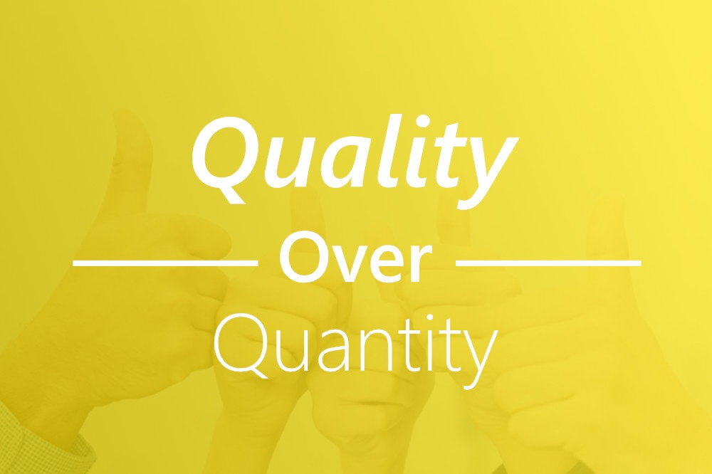 Remember: the golden rule when it comes to inbound marketing leads is quality over quantity