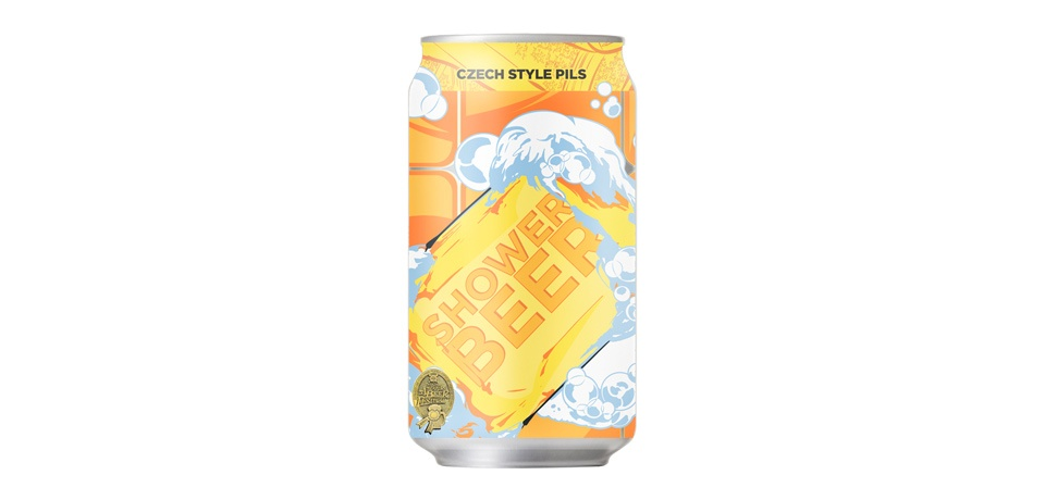 Champion Shower Beer Can