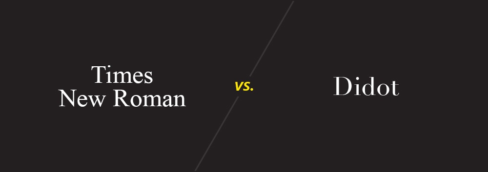 Times New Roman vs. Didot